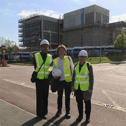 Topping out ceremony at Anglia Ruskin University